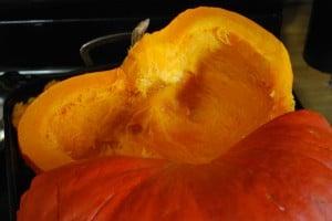 Halved Seeded Pumpkin
