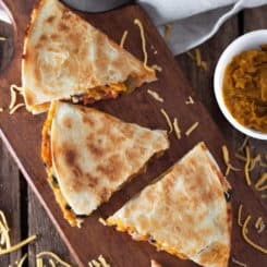 Black Bean and Butternut Squash Quesadillas