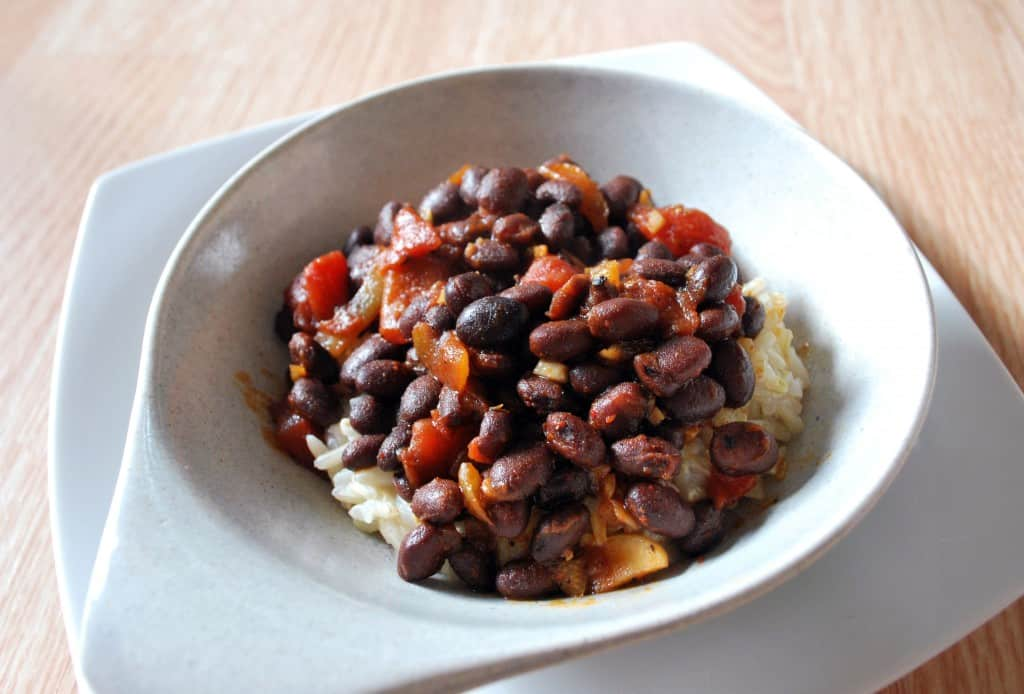 Beer Glazed Black Beans