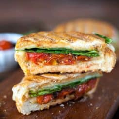 Cheesy Hummus and Veggie Panini