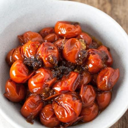 Garlic and Balsamic Grape Tomatoes