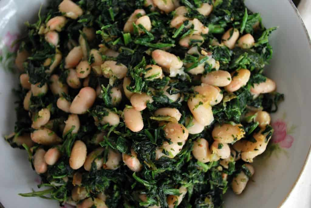 Spinach and White Beans