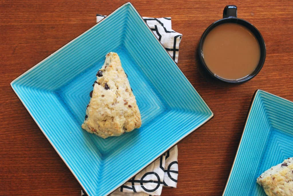 Chocolate Coconut Almond Scones - The Live-In Kitchen