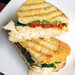 Turkey, Red Pepper, and Spinach Panini