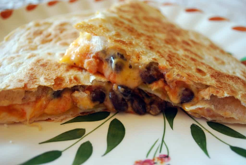Black Bean and Butternut Squash Quesadilla