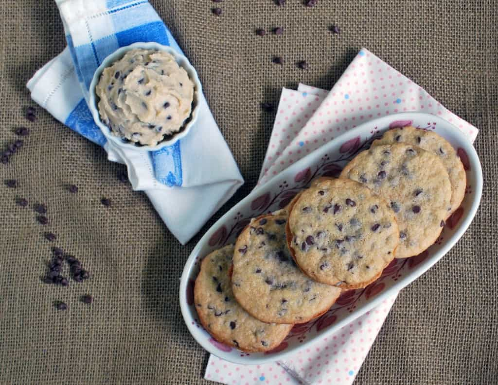 Chocolate Chip Cookie Dough Sandwich