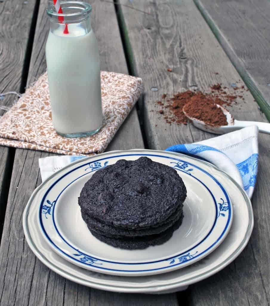 Double Dark Chocolate Chip Cookies