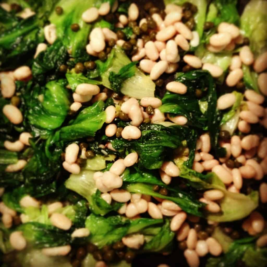 Escarole with White Beans