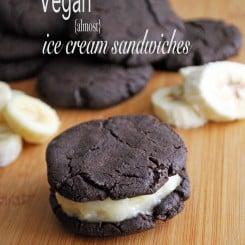 Vegan (Almost) Ice Cream Sandwiches