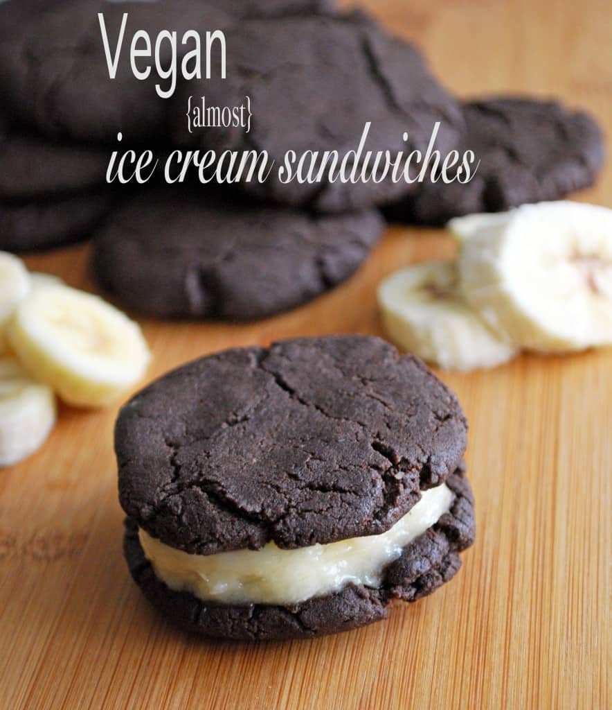 Vegan Almost Ice Cream Sandwiches