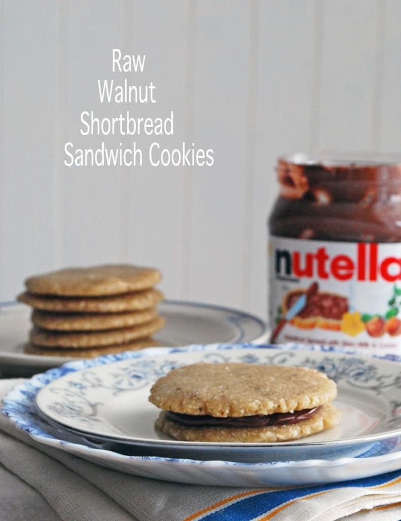 Raw Walnut Shortbread Sandwich Cookies - The Live-In Kitchen