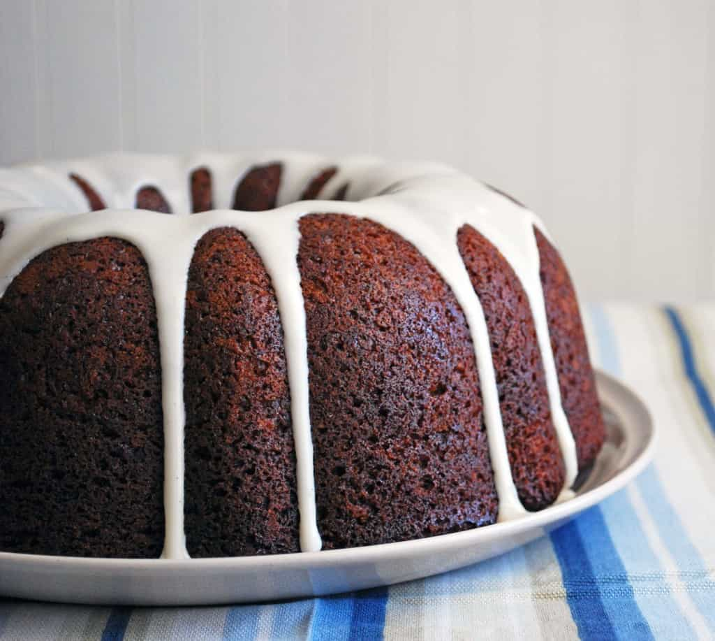Banana Bundt Cake with Vanilla Glaze