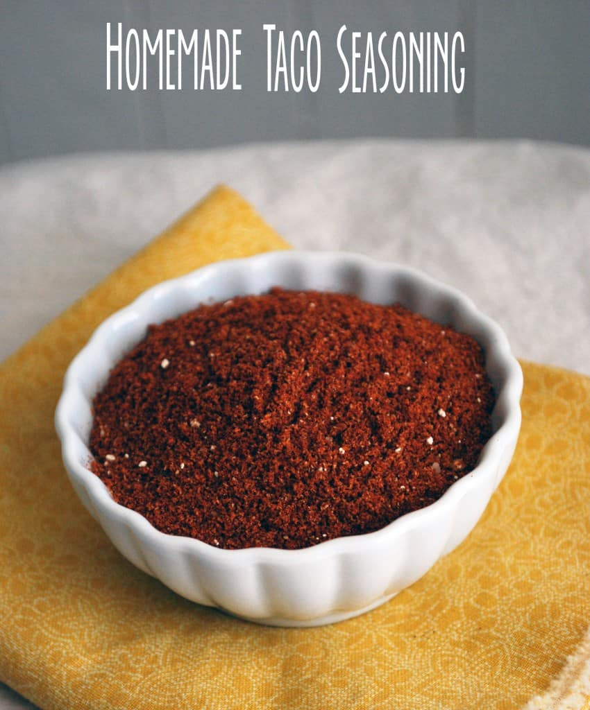 Homemade Taco Seasoning - The best way to get the perfect amount of spice! Full recipe at theliveinkitchen.com
