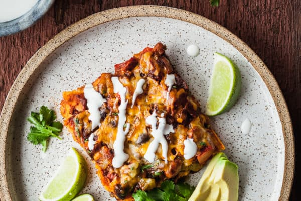 Stacked Veggie Enchiladas