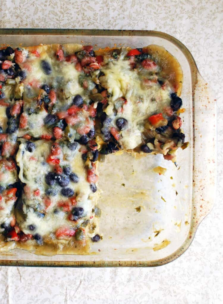 Stacked Veggie Enchiladas