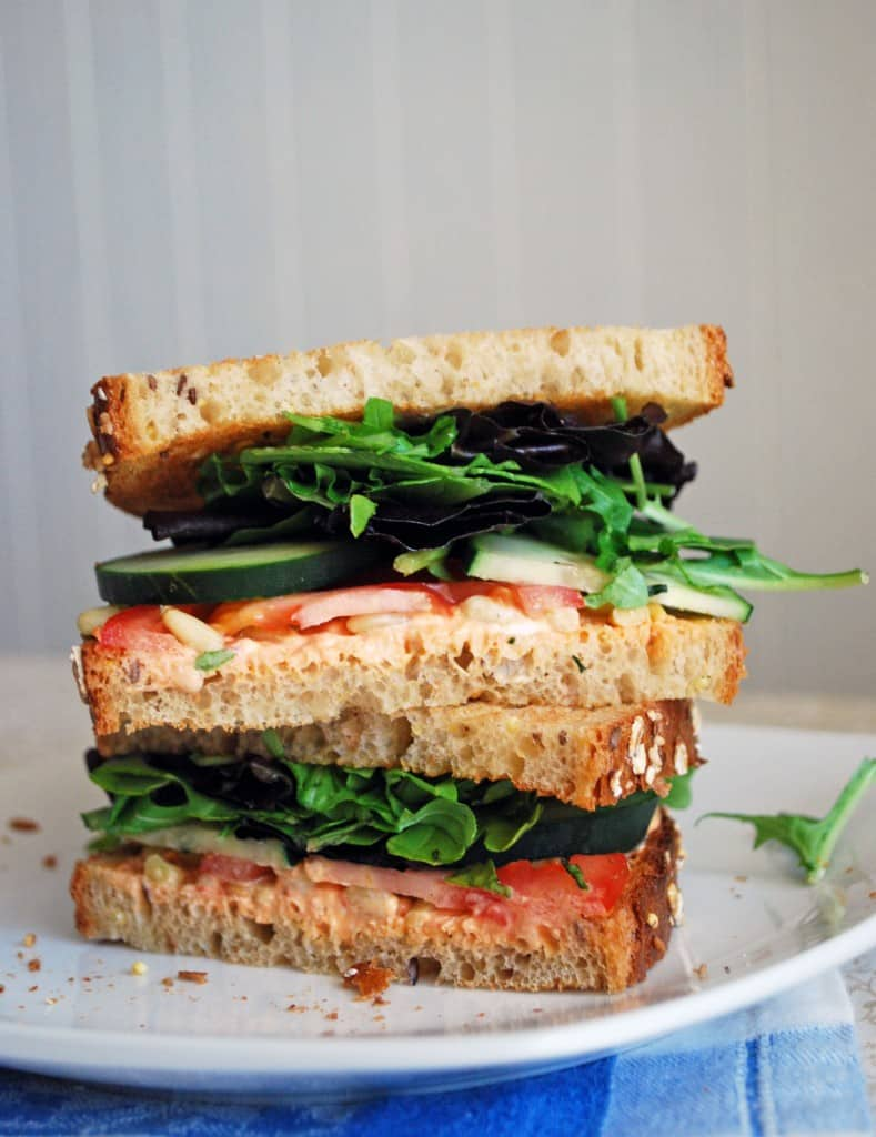 Goat Cheese and Veggie Sandwich - The Live-In Kitchen
