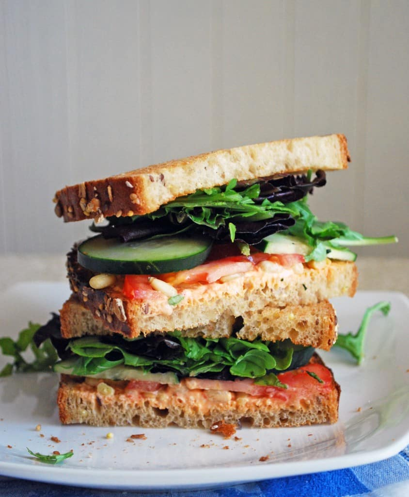 Goat Cheese and Veggie Sandwich - This vegetarian sandwich is ...