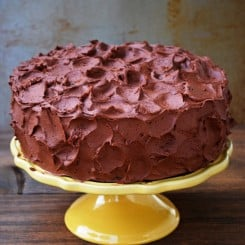 The Best Chocolate Cake with Chocolate Frosting and My Second Blogiversary {Giveaway}