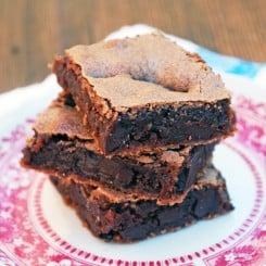 These brownies taste just like the ones my grandma used to make! From scratch, crisp on top and soft in the middle. So chocolatey!