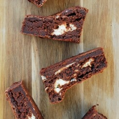 Cream Cheese Icebox Brownies - cold, creamy, and full of chocolate! Full recipe at www.theliveinkitchen.com