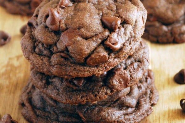 Whole Wheat Chocolate Fudge Cookies