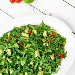 Healthy Baked Nachos - Crispy, cheesy, and full of veggies! www.theliveinkitchen.com