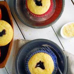 Black Raspberry Cornbread Muffins