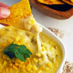 Cheesy Green Chile Corn Dip