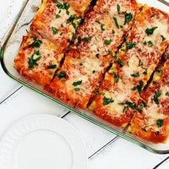 Farmer's Market Lasagna Rolls - A healthy lasagna!