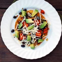 Roasted Vegetable Tostadas