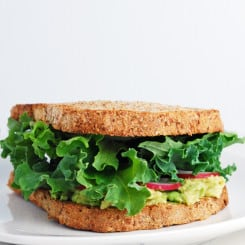 Deep Green Sandwich - This is my go-to lunch! Healthy, full of texture, and so simple to make!