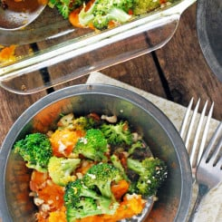 Broccoli Cheddar Sweet Potato Casserole
