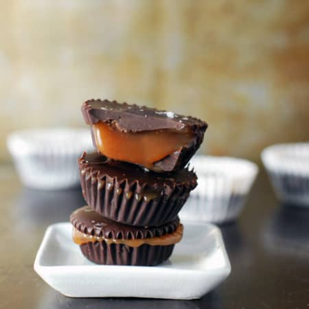 Dark Chocolate Salted Caramel Cups