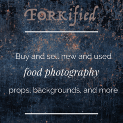 Introducing Forkified - The best place to buy and sell new and used food photography props, backgrounds, and more!