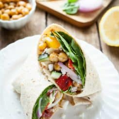 Greek Chickpea Wraps
