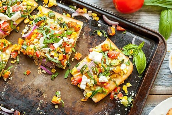 Rainbow Feta Flatbread