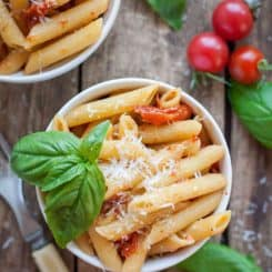 Roasted Garlic and Tomato Penne