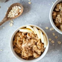 Vanilla Almond Vegan Baked Oatmeal | theliveinkitchen.com @liveinkitchen