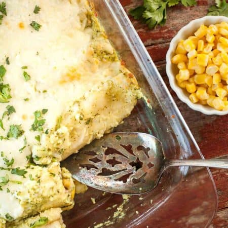 Vegetarian Enchiladas with Poblano Cream Sauce