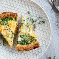 Sweet Potato and Spinach Quiche