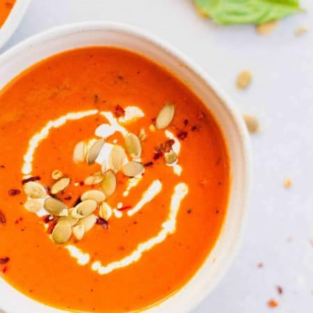 Red Wine Tomato Soup with Fontina Grilled Cheese Dippers
