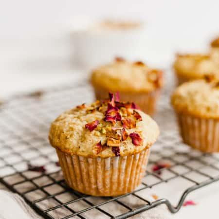 Perfect Pistachio Rose Muffins