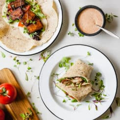 Cajun Tofu Wraps - A vegetarian sandwich that is full of spicy protein. #lunchideas #vegetarian #easy #healthy #tofu #cajun #spicy