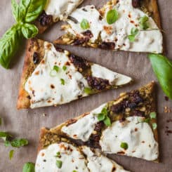 Pesto Flatbread Pizza