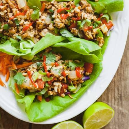 Healthy Vegan Lettuce Wraps