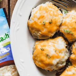 VeggieMash Stuffed Mushrooms