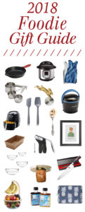 collage of items in a foodie gift guide for 2018