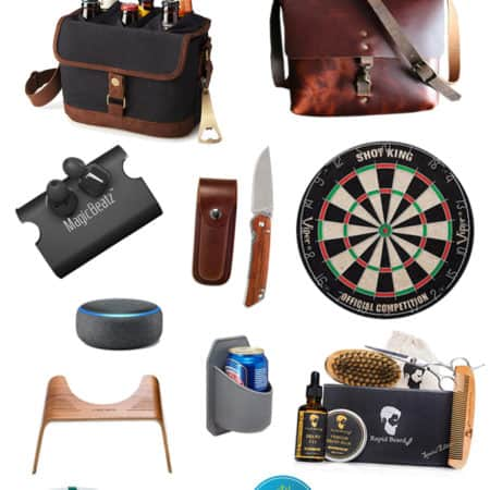 collage for men's gift guide 2018