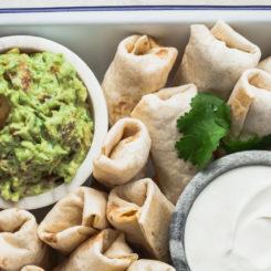 vegetarian burrito bites